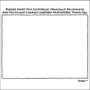 Politically correct cartoon