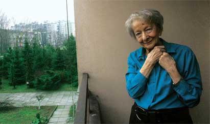 Szymborska en su casa