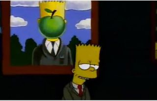 Simpsons - Magritte
