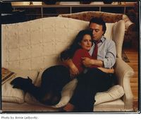 Hitchens y Carol Blue
